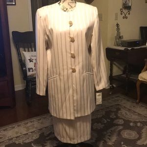 Chad Stevens Suit with satin stripes